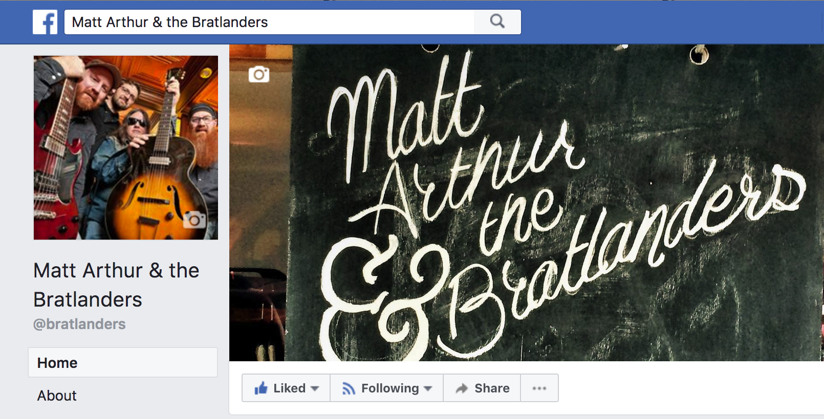 Bratlanders Facebook Page screenshot