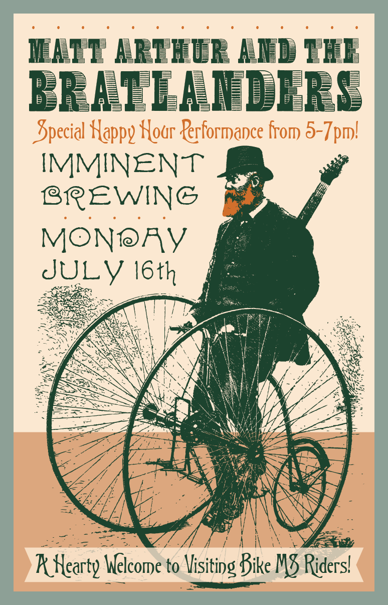Poster for Imminent Brewing show on 7/12/2018