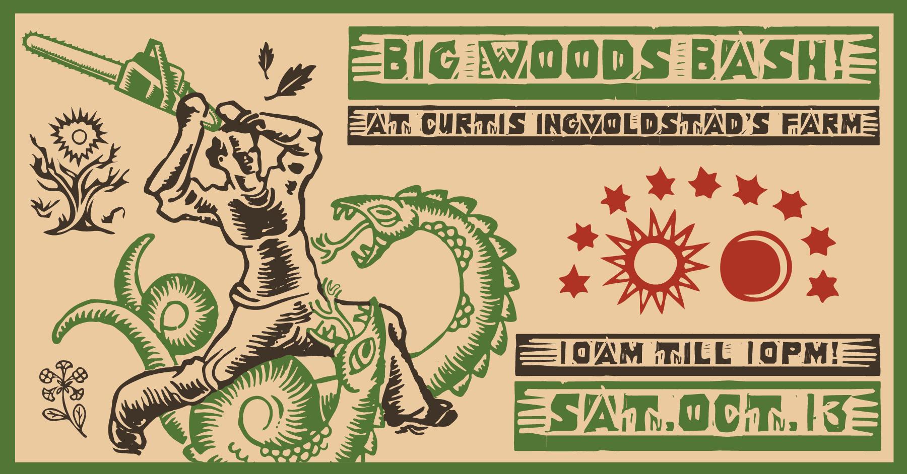 big woods bash event poster