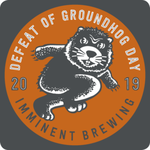 A beer coaster promoting the DGHD celebration at Imminent Brewing